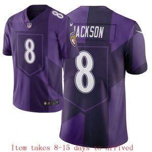 Ravens #8 Lamar Jackson Jersey City Edition
